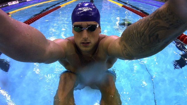 Swimmer Chris Walker-Hebborn in action