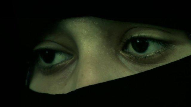 Syrian woman wearing niqab