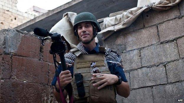James Foley in Aleppo, Syria. Photo: 2012
