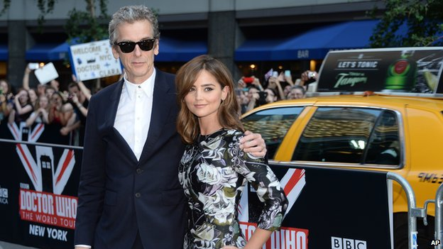 Peter Capaldi and Jenna Coleman in New York