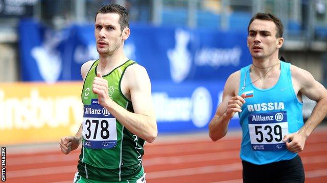 Michael McKillop wins the 800m title at the IPC European Championships