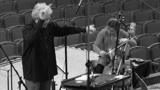 Conductor Jiri Belohlavek and cellist Alisa Weilerstein