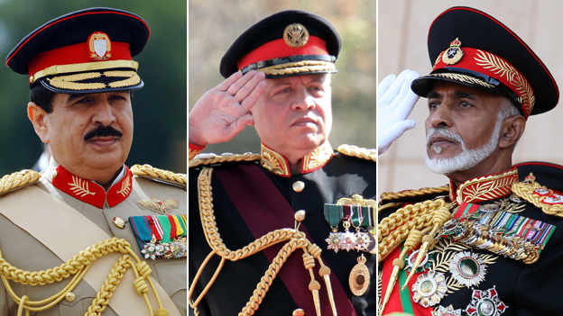Sheikh Hamad Bin Isa Al Khalifa, King Abdullah, Sultan Qaboos