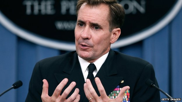 Pentagon press secretary Rear Adm John Kirby (22 August 2014)