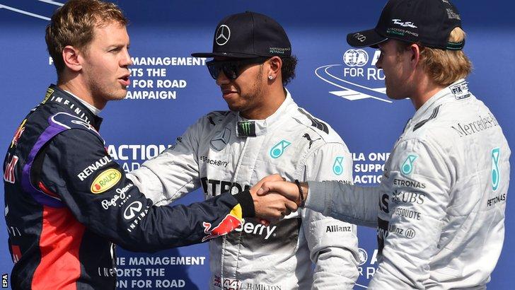 Vettel, Hamilton and Rosberg