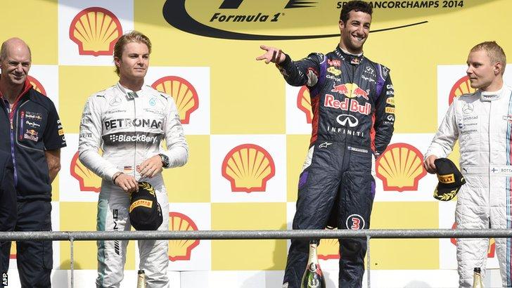 Ricciardo on podium