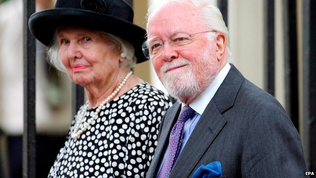 Attenborough and wife