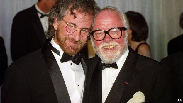 Steven Spielberg (l) and Richard Attenborough