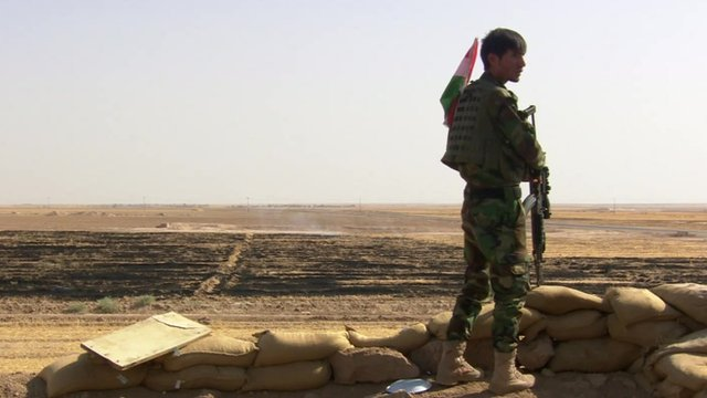 A Kurdish fighter
