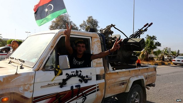 Islamist fighter at Tripoli airport. 25 Aug 2014