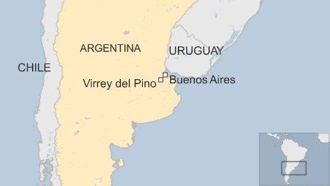 Map of Virrey del Pino