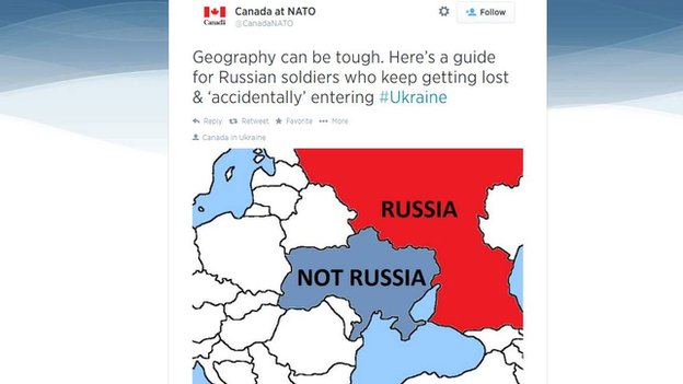 Canada Russia Tweet Map BBCTrending: Canada and Russia in Twitter fight over map   BBC News