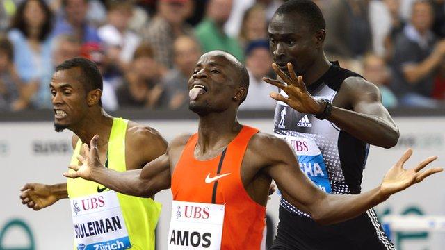 Nijel Amos beats David Rudisha in 800m in Zurich