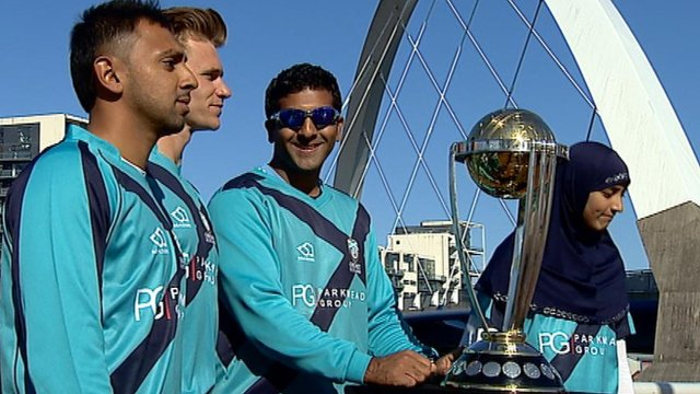 The ICC Cricket World Cup trophy tours Scotland