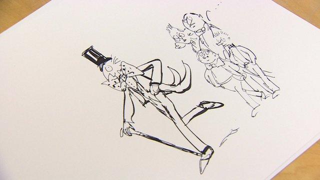 Illustrator Quentin Blake's illustration to missing Dahl chapter The Vanilla Fudge Mountain