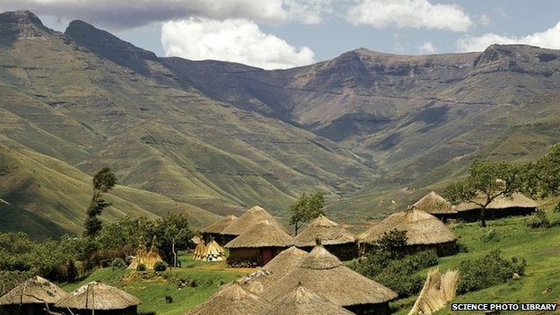Basuto Huts in Pitseng, Lesotho (file picture)