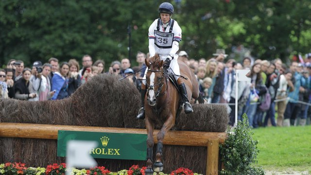 William Fox-Pitt rides Chilli Morning in the cross-country at the World Equestrian Games