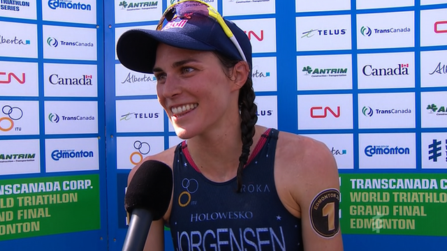 World Triathlon Series champion Gwen Jorgensen