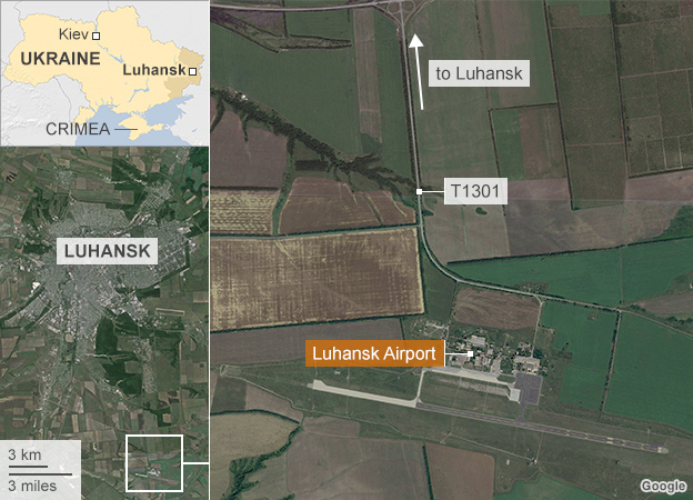Map of Luhansk airport