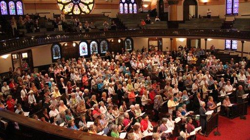 Môr o Gymraeg yng Nghapel Westminster, Minneapolis