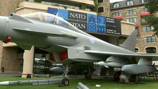 Nato plane outside Celtic Manor