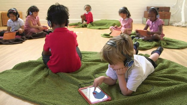Children in Nottingham use app