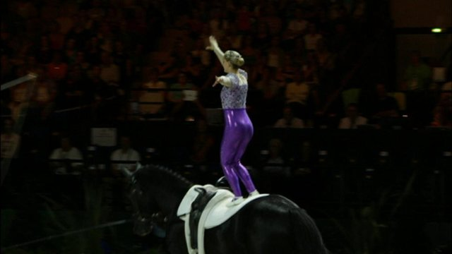 Vaulting World champion Joanne Eccles