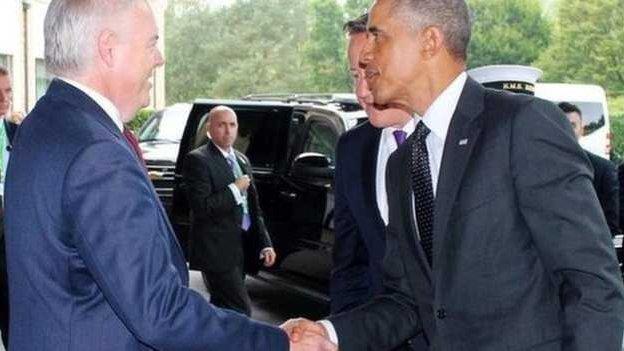 Carwyn Jones a Barack Obama