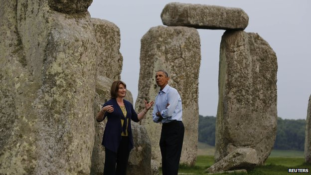 President Obama at Stonehenge