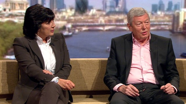 Christiane Amanpour and Alan Johnson