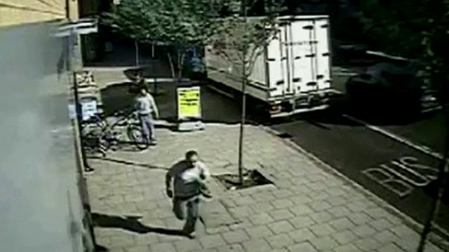 Still from CCTV footage shows mobile phone theft