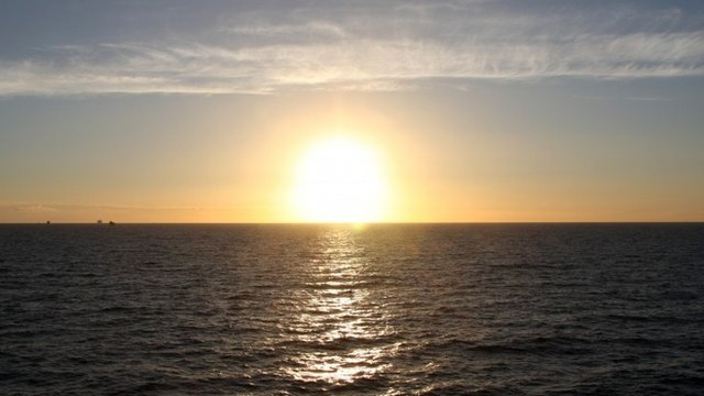Sunset over English Channel - generic image
