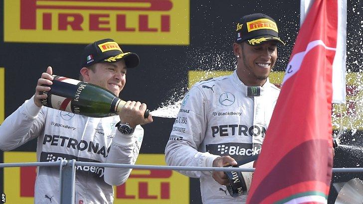 Nico Rosberg and Lewis Hamilton