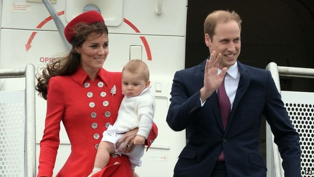 Duke and Duchess of Cambridge with Prince George in New Zealand