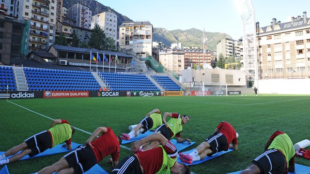 Wales players training in Andorra