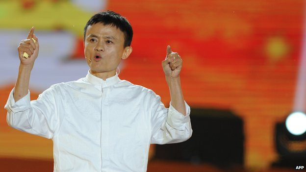 Alibaba founder Jack Ma speaking in the eastern Chinese city of Hangzhou on 10 May 2013