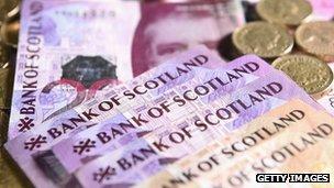 Bank of Scotland bank notes