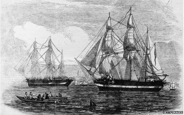The ships HMS Erebus and HMS Terror
