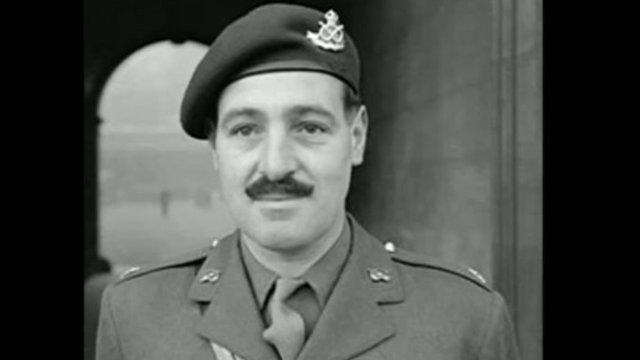 Victoria Cross winner Major Robert Cain