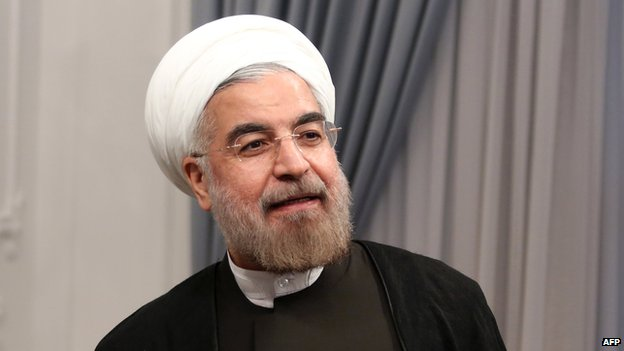 Hassan Rouhani on his first official day as president of Iran on 3 August 2013