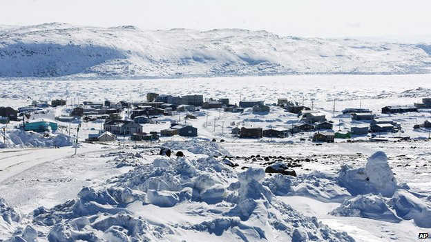 The village of Apex, in Frobisher Bay, Nunavut