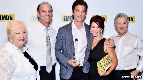Miles Teller and family