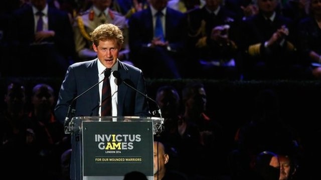Prince Harry opening Invcitus Games