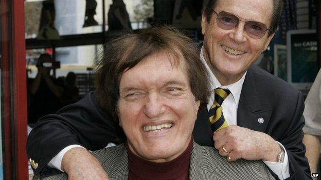 Richard Kiel and Roger Moore