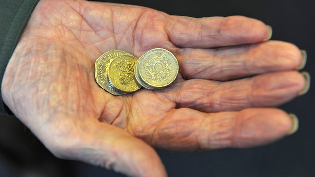 Pensioner with money
