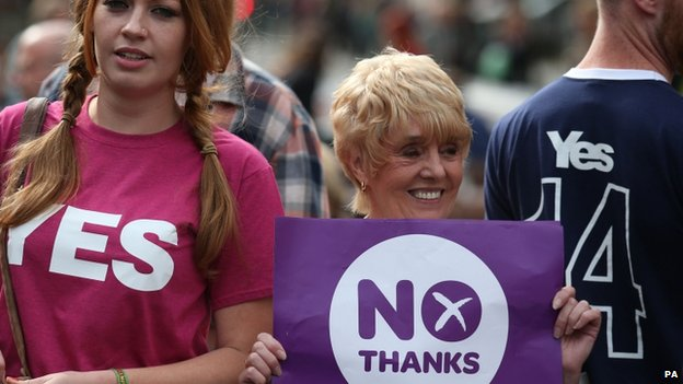 yes and no supporters
