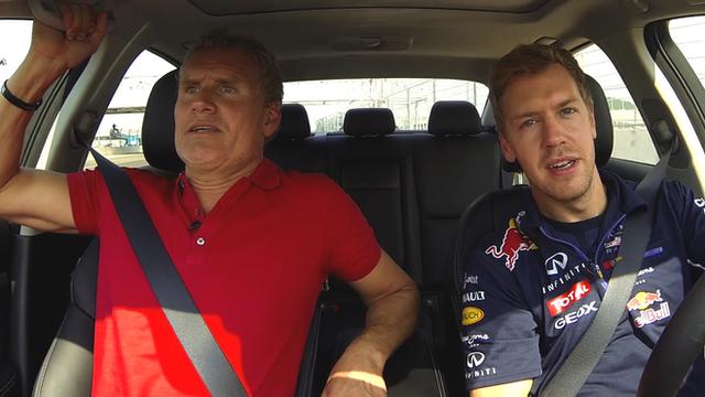 David Coulthard and Sebastian Vettel take to the new Sochi F1 track