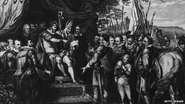 Painting of King John
