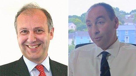 Bryn Parry-Jones (left) and Jamie Adams