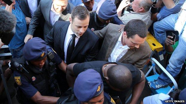Pistorius arrives 12/9